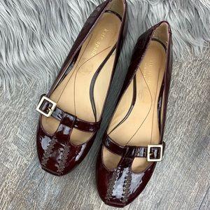 KATE SPADE Burgundy Patent Leather MaryJane Flats